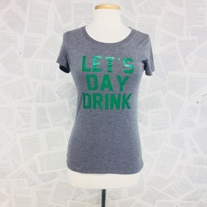 Let's day Drink Graphic Tee Shirt Cotton Medium